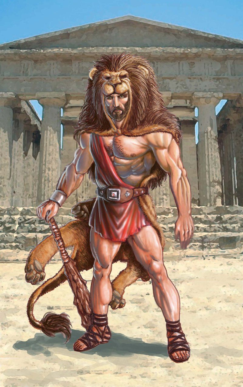 Mighty Heracles Son Of Zeus Hercules Mythology Greek Mythological Creatures Greek Warrior
