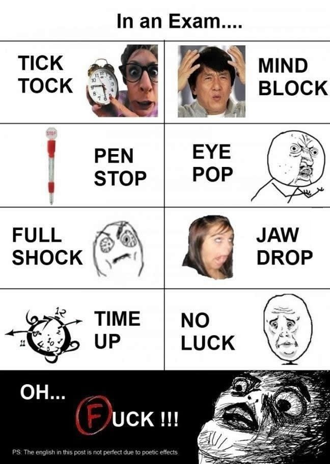 In An Exam Exams Funny Exams Memes School Humor
