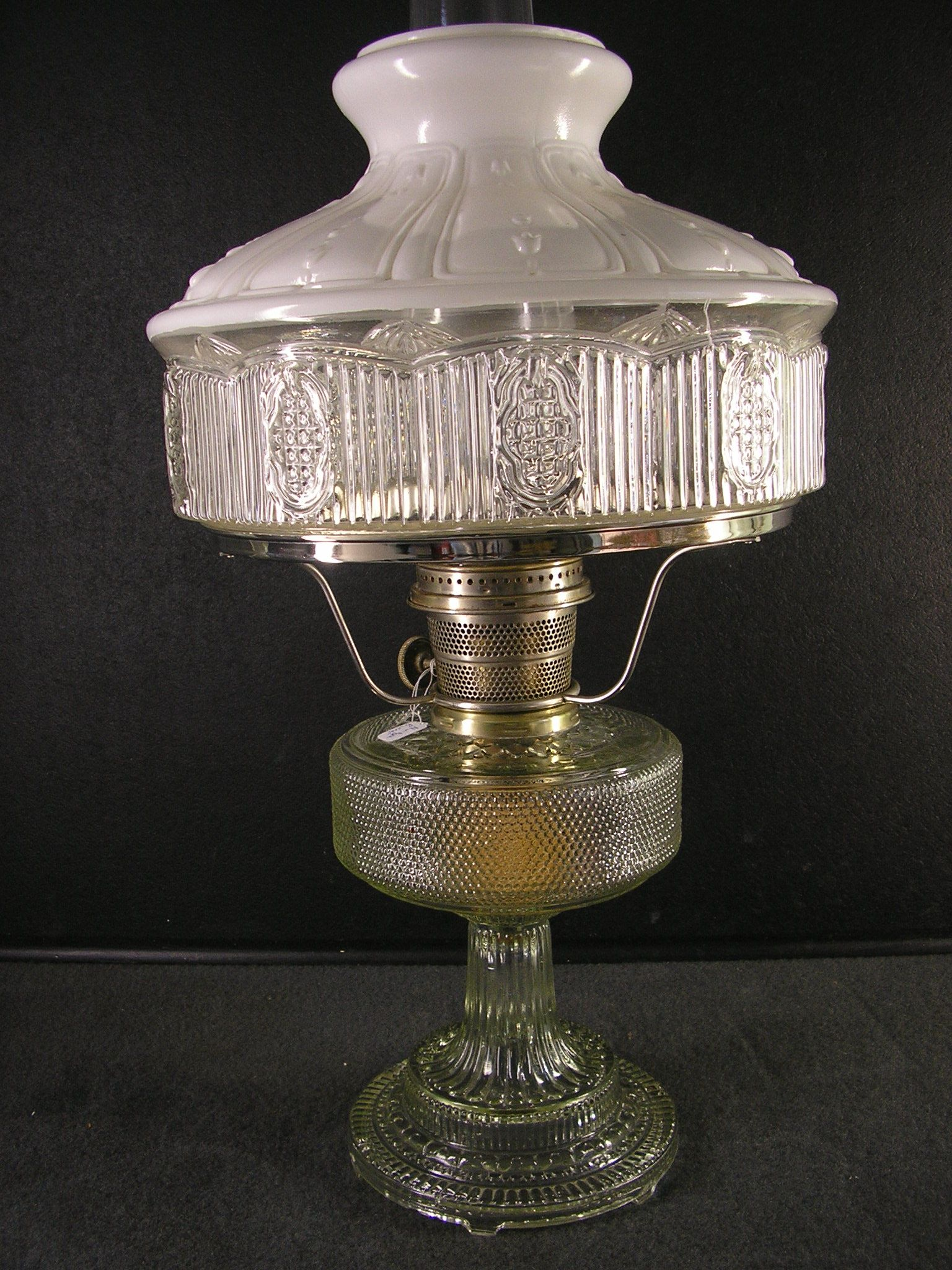 Aladdin Clear Colonial Mantle Lamp With Original 501 11 Shade