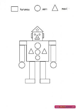 geometrik materyallerle robot yapımı ile ilgili görsel