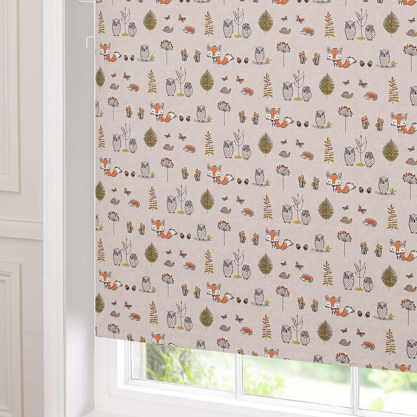Woodland Fox Blackout Cordless Roller Blind Roller