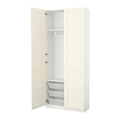PAX Wardrobe white, Bergsbo white 39 3/8x15x79 1/4