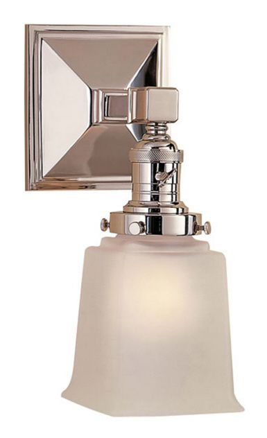 """BOSTON SQUARE ONE LIGHT SCONCE Height: 11"""" Width: 5 ... on Height Of Bathroom Sconce Lights id=97418"""