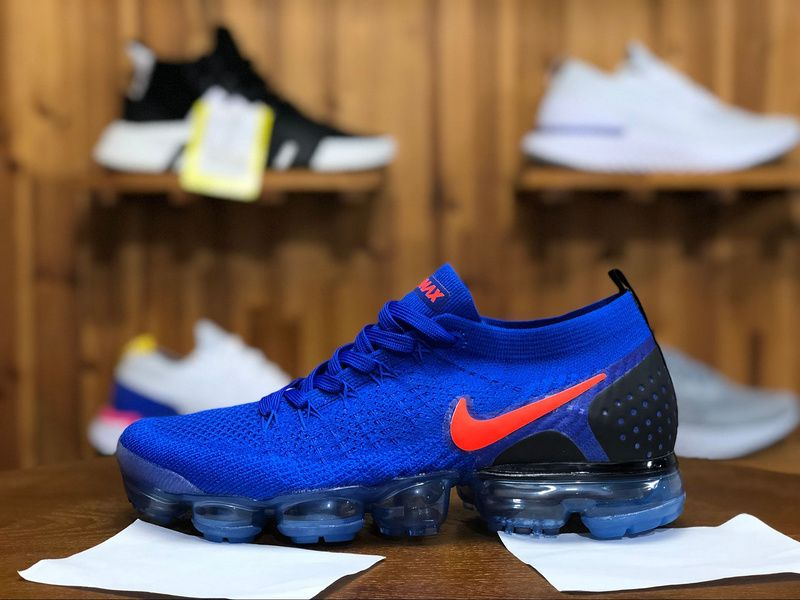 new concept 4da1e 89d07 2018 Nike Air Vapormax Flyknit 2.0 Mens Athletic Shoes Navy Blue Black Red  942842-400