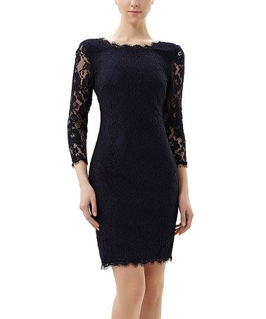 Another great find on #zulily! Navy Floral Lace Rachael Dress #zulilyfinds