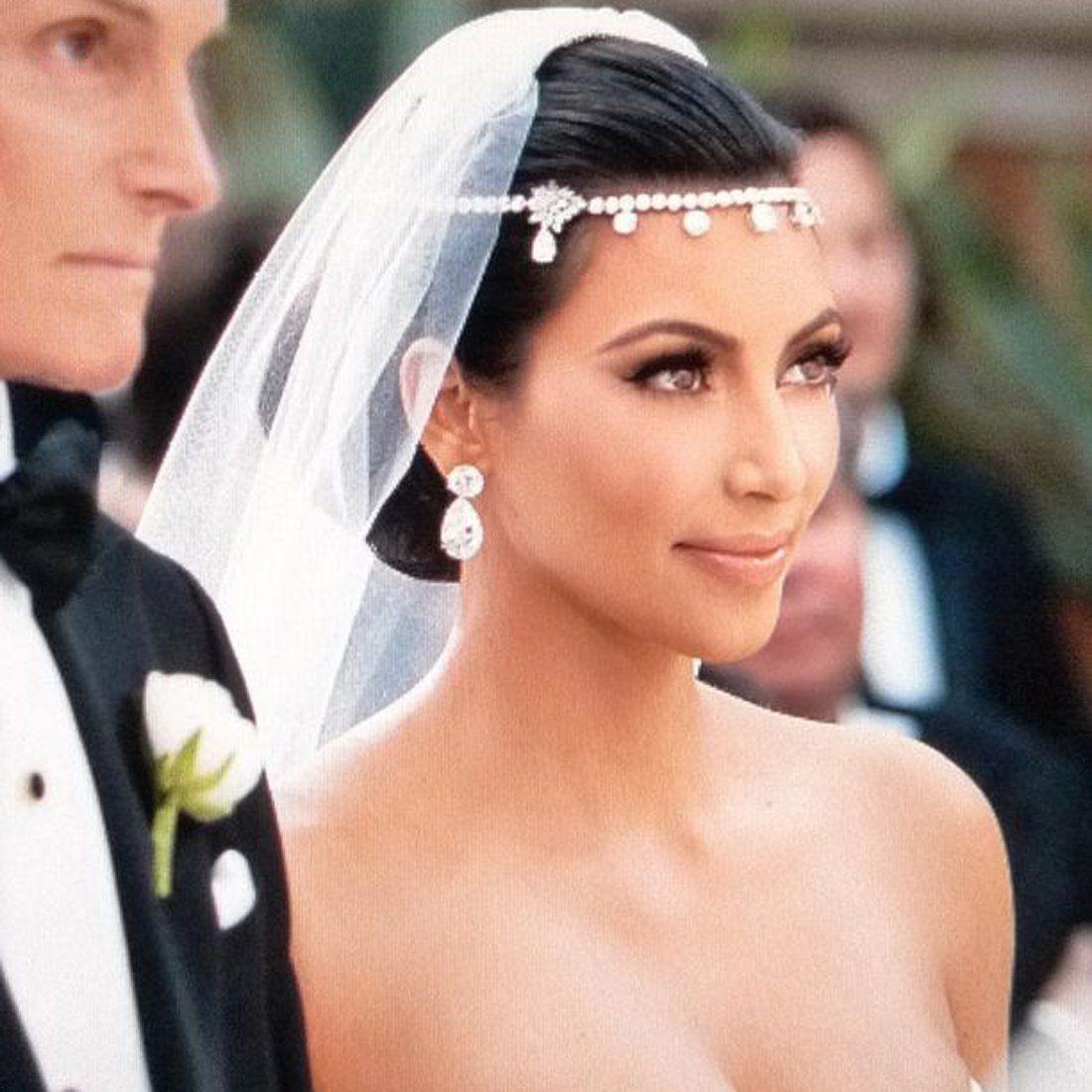 rhinestone crystal forehead bridal hair accessories floral