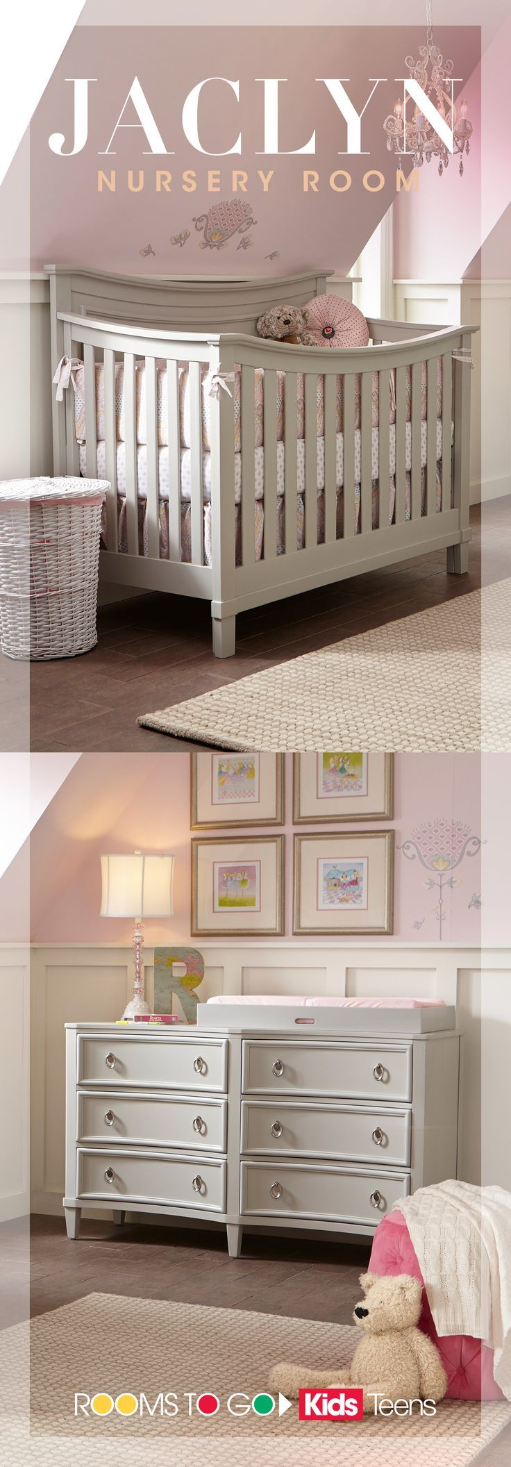 The Jaclyn Nursery Room Is The Ideal Place For Your Precious Baby To Lay Their Head Not Only It Is Complete Wit Baby Cribs Baby Nursery Furniture Nursery Room