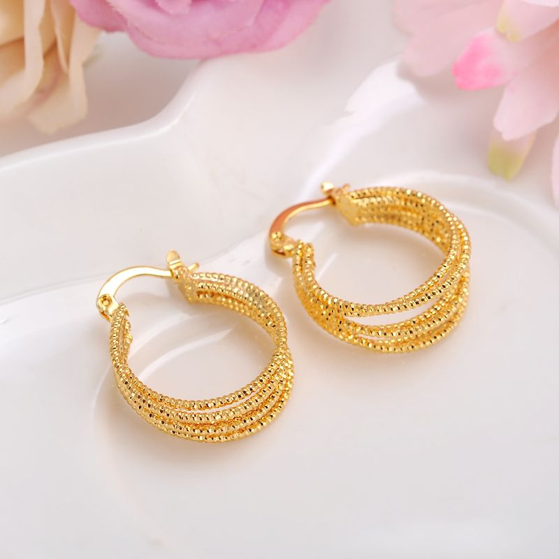 d4be28c7788 Bangrui African Earrings for Women Gold Plated Round Earrings Jewelry