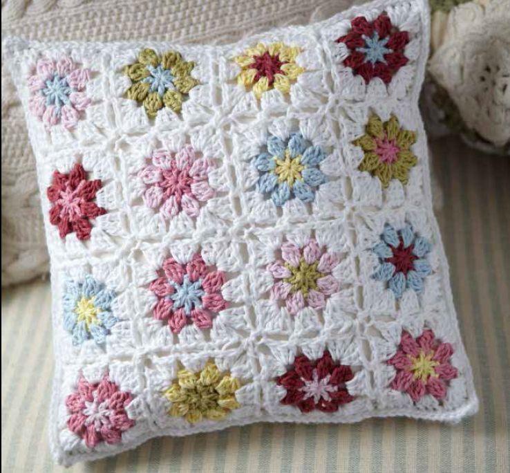 Crochet Flower Cushion Pattern By Ruby Custard Httpswww