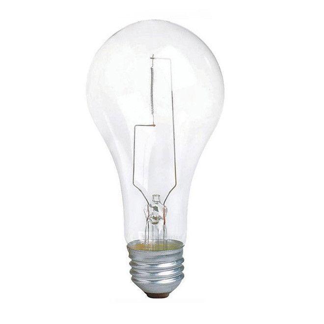 Philips 200w 120v A-Shape A23 Clear E26 Incandescent Light Bulb