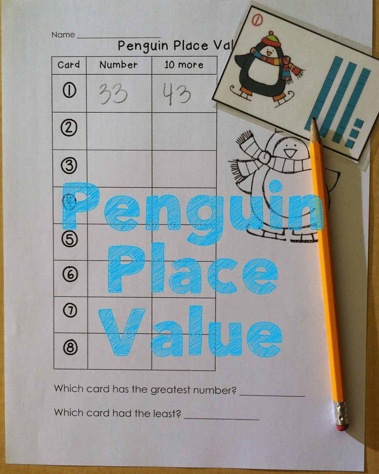 Penguin Math Fun Place Value Write The Room