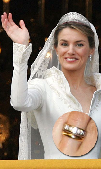 Royal wedding rings Kate Middleton Queen Letizia Princess Sofia