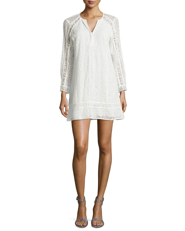Nanette Lepore Drifter Long Sleeve Lace Dress