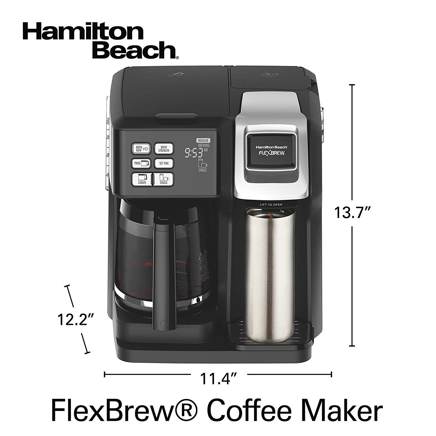 Hamilton Beach 49976 Flexbrew Coffee Maker Single Serve And Full