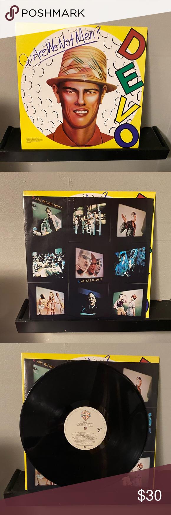 Devo Q Are We Not Men A We Are Devo Vinyl Original Pressing Of Devo S Debut Album Used Condition Media Ex Sleeve Ex Are We Not Men Vinyl Debut Album