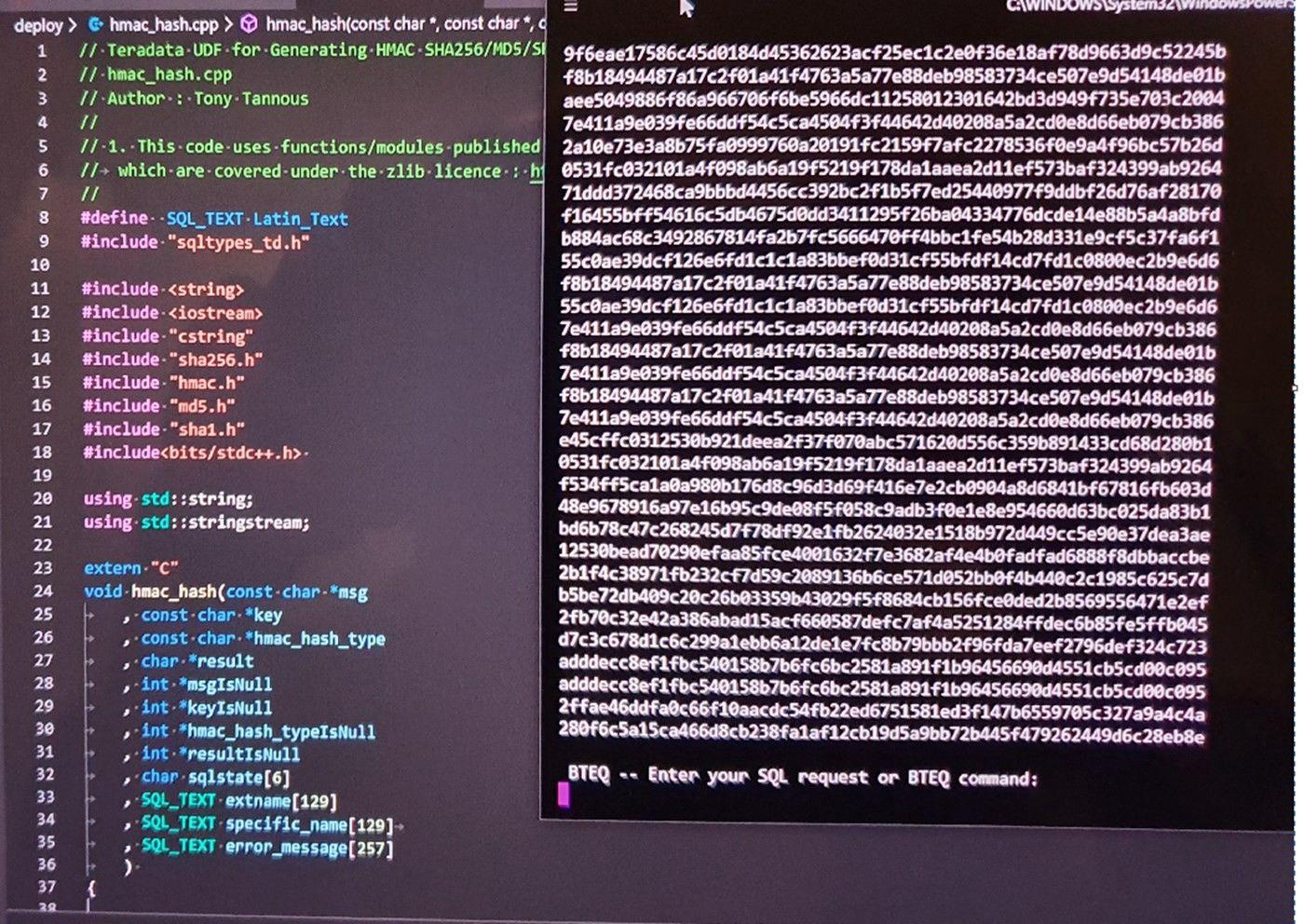 Teradata Rdbms Generating Hmac Sha256 Md5 And Sha1 Hashes Latin Text Algorithm Generation