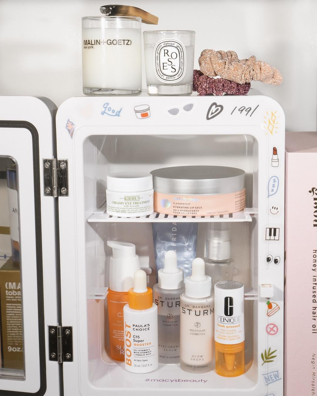 Skincare Fridge Skincare Shelfie Inspo Beauty Luxury Sunday Riley Barbara Sturm Clinique Patchology Malin And Goetz Di Natural Hair Mask Beauty Hacks Skin Care