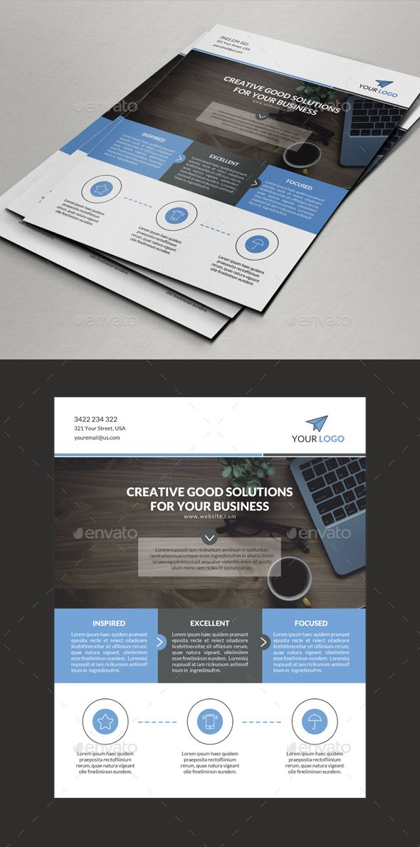 Simple Corporate Flyer Template — Photoshop PSD #portfolio #dark • Available here → https://graphicriver.net/item/simple-corporate-flyer-template/18277682?ref=pxcr