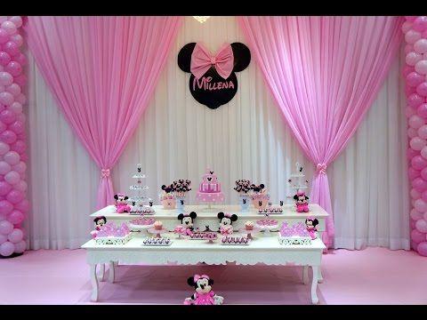 Decoracao De Festa Infantil Minnie Rosa Suzy Festa Decoracao
