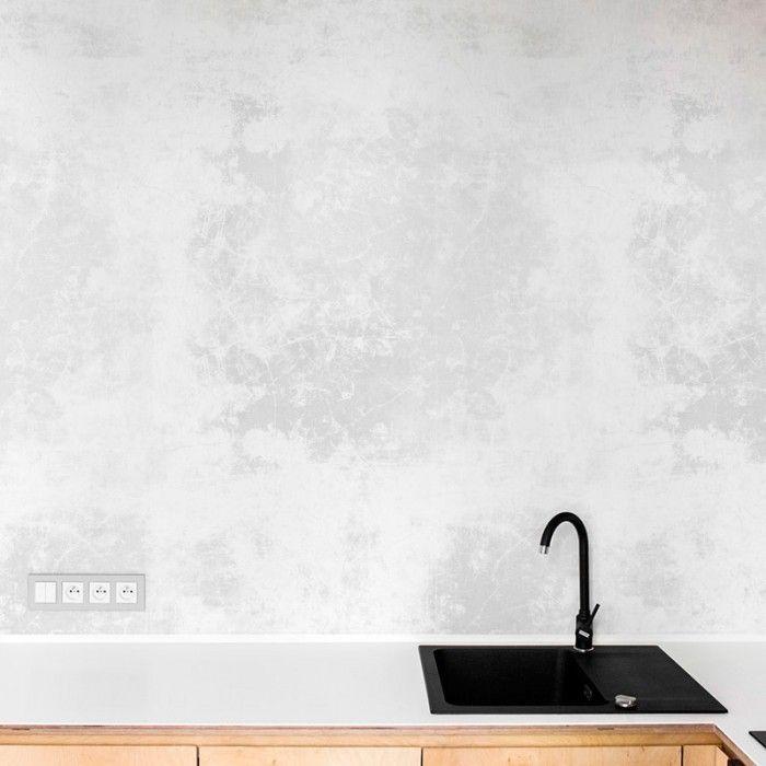 Vinilo de cemento claro para muebles, paredes y suelos Hjemmet - paredes de cemento
