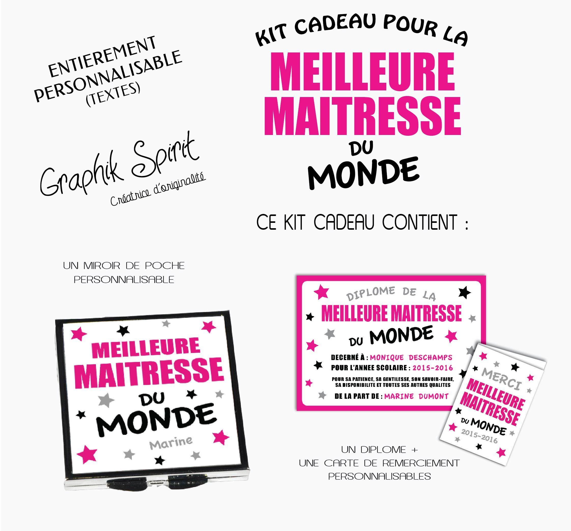 Un Kit Cadeaux Pour Maitresse Personnalise A Offrir A La Fin De L