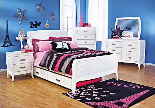 Shop for a Belle Noir White 5 Pc Full Bedroom at Rooms To Go Kids ...