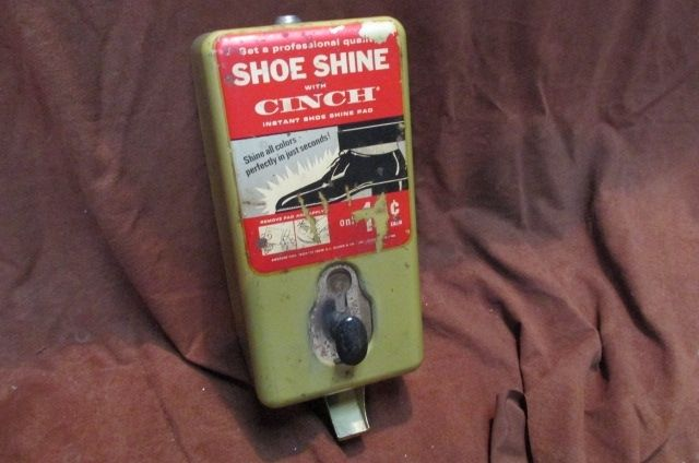 shoe Vintage machine operated coin shining