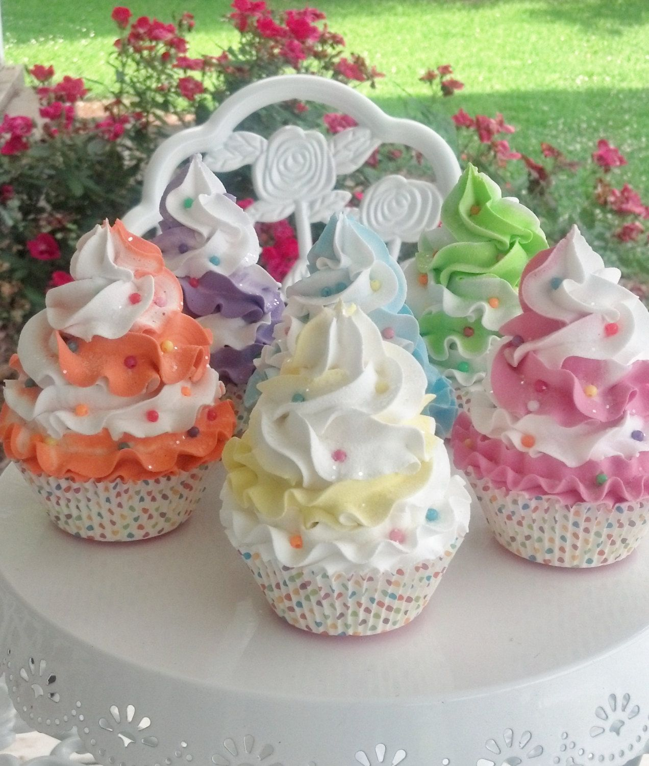 Fake Cupcakes With Candy Sprinkles Photo Props Shop Displays Party Decorations Home Decor Kitchen Centerpiece Cupcake Movie By