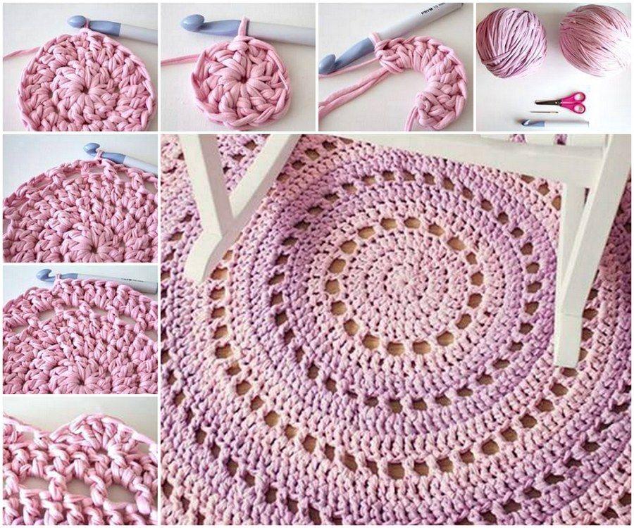 Crochet Pattern Pdf  Doily Crochet Rug. 10 Best Images About Diy Stuff On  Pinterest Carpets Pom Rug