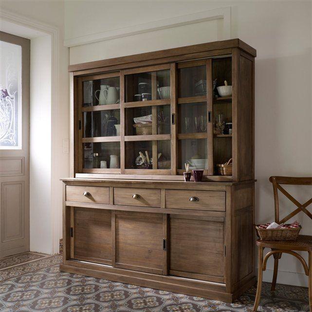 image 4 vaisselier 3 portes coulissantes pin massif lunja la redoute interieurs 367 37. Black Bedroom Furniture Sets. Home Design Ideas