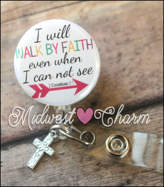 Loved Pray ~  Exchangeable System for Retractable Reel ID Holder Refuge