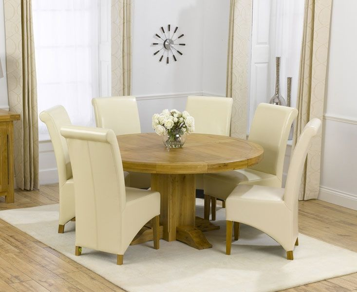 round oak table and 6 chairs danish modern dining room glass top set tables killdeer
