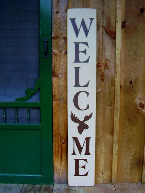 Welcome Sign Vertical Welcome Sign Welcome Entry Sign Large Welcome Wood Sign Gift For Her Welcome Porch Sign Front Porch Decor Wooden Signs Diy Wood Signs Porch Signs