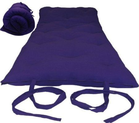 Brand New Queen Size Purple Traditional Japanese Floor Futon Mattresses Foldable Cushion Mats Yoga