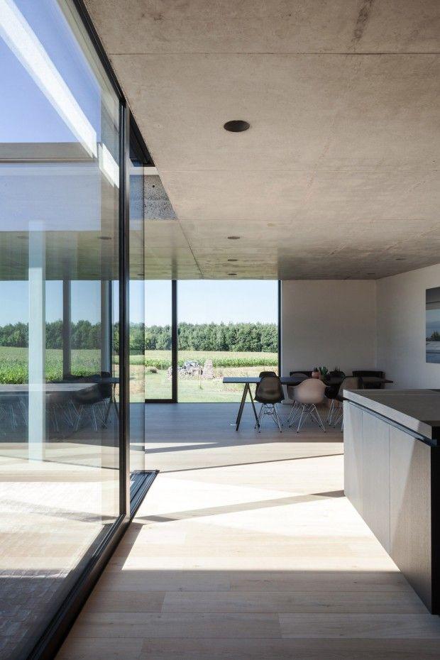 Caswes maison minimaliste en béton et bois par toop architectuur modern architecture architecture and modern