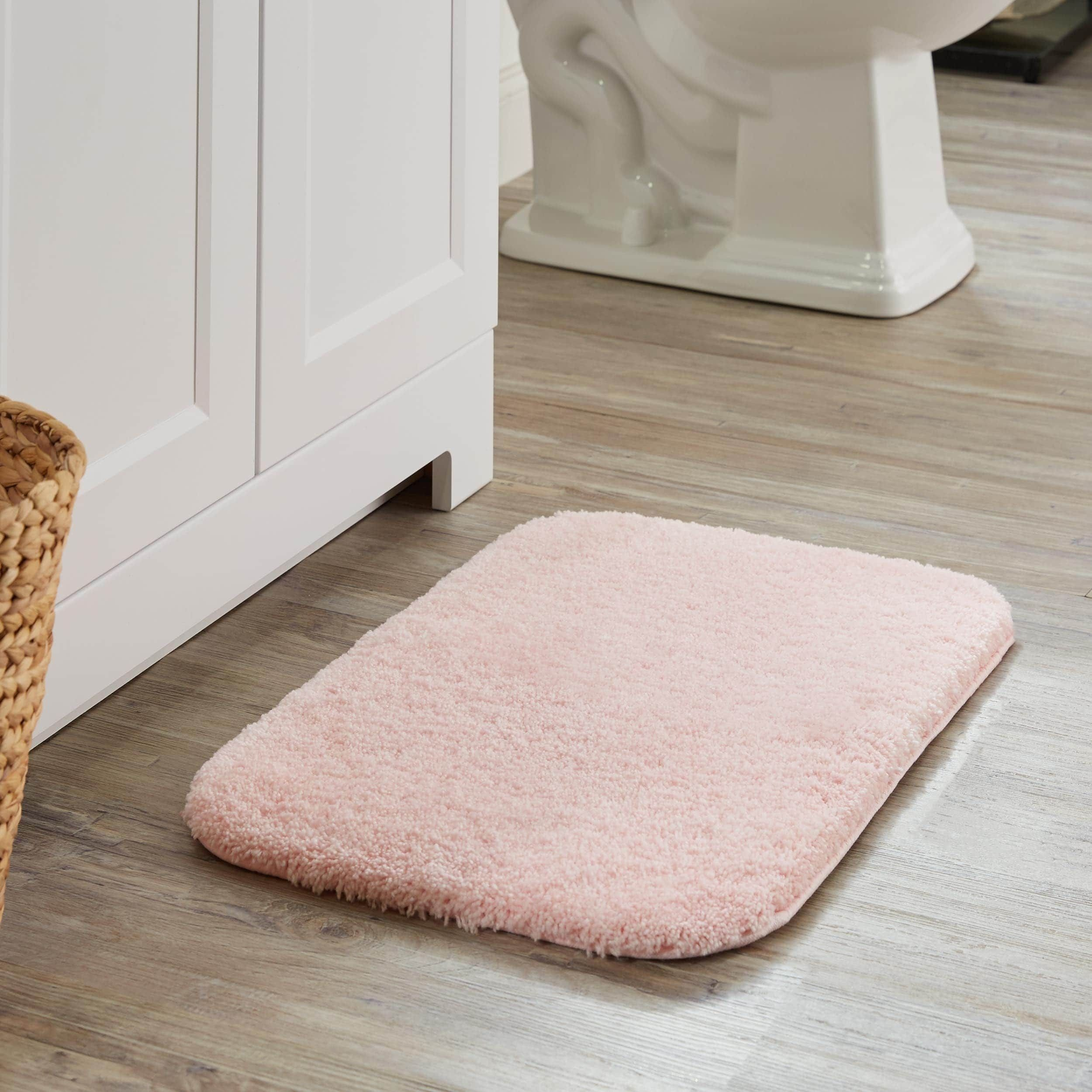 mohawk home spa bath rug 1 5x2 rose pink products rugs rh pinterest ca