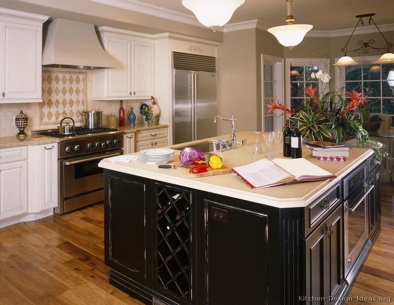 Apartment Kitchen Cabinets Traditional Two Tone