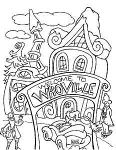 whoville coloring pages welcome to whoville | WHOVILLE | Christmas coloring pages  whoville coloring pages