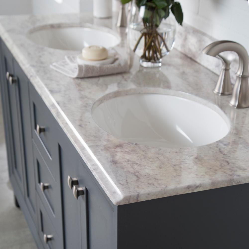 St Paul Austell 61 In W X 22 In D Vanity In Graphite Gray With