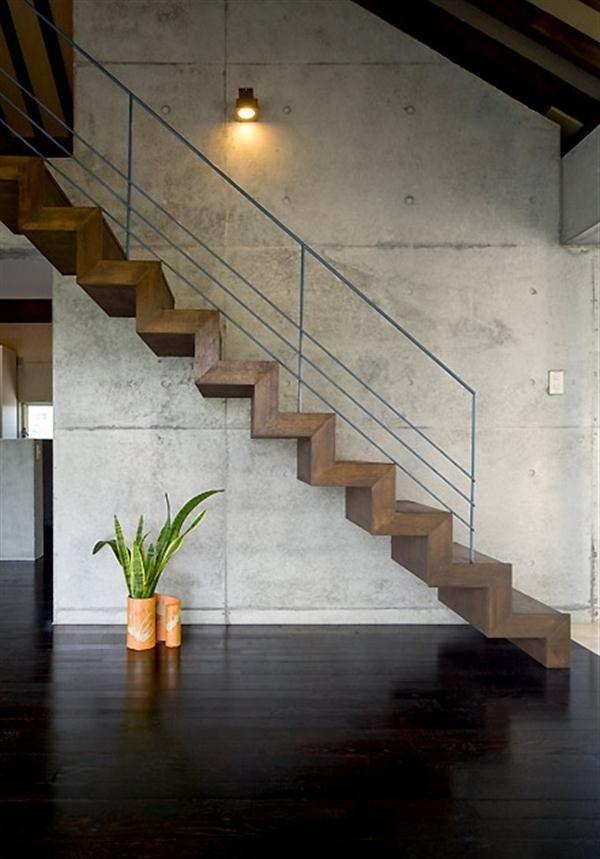 Pingl par futurist architecture sur gorgeous interior - Escalier contemporain beton ...