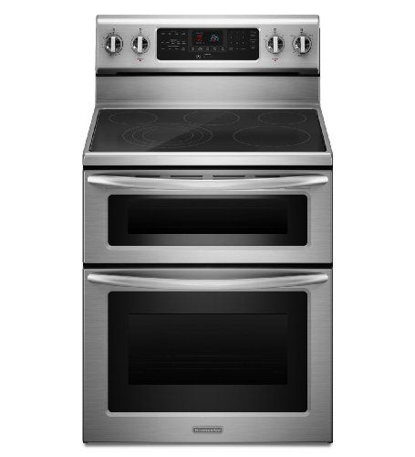 kitchenaid kers505xss 30inch 5element freestanding double oven range rh pinterest com