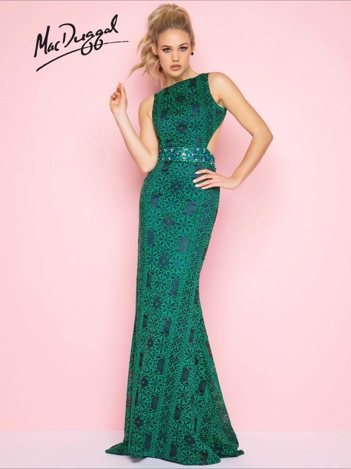 Green Designer Prom Dress | Mac Duggal 40644L | Flash 2018 | Pinterest