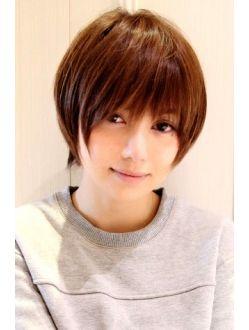 黒髪でも可愛く決まるショートレイヤー ヘアカット 髪型 ヘアスタイル