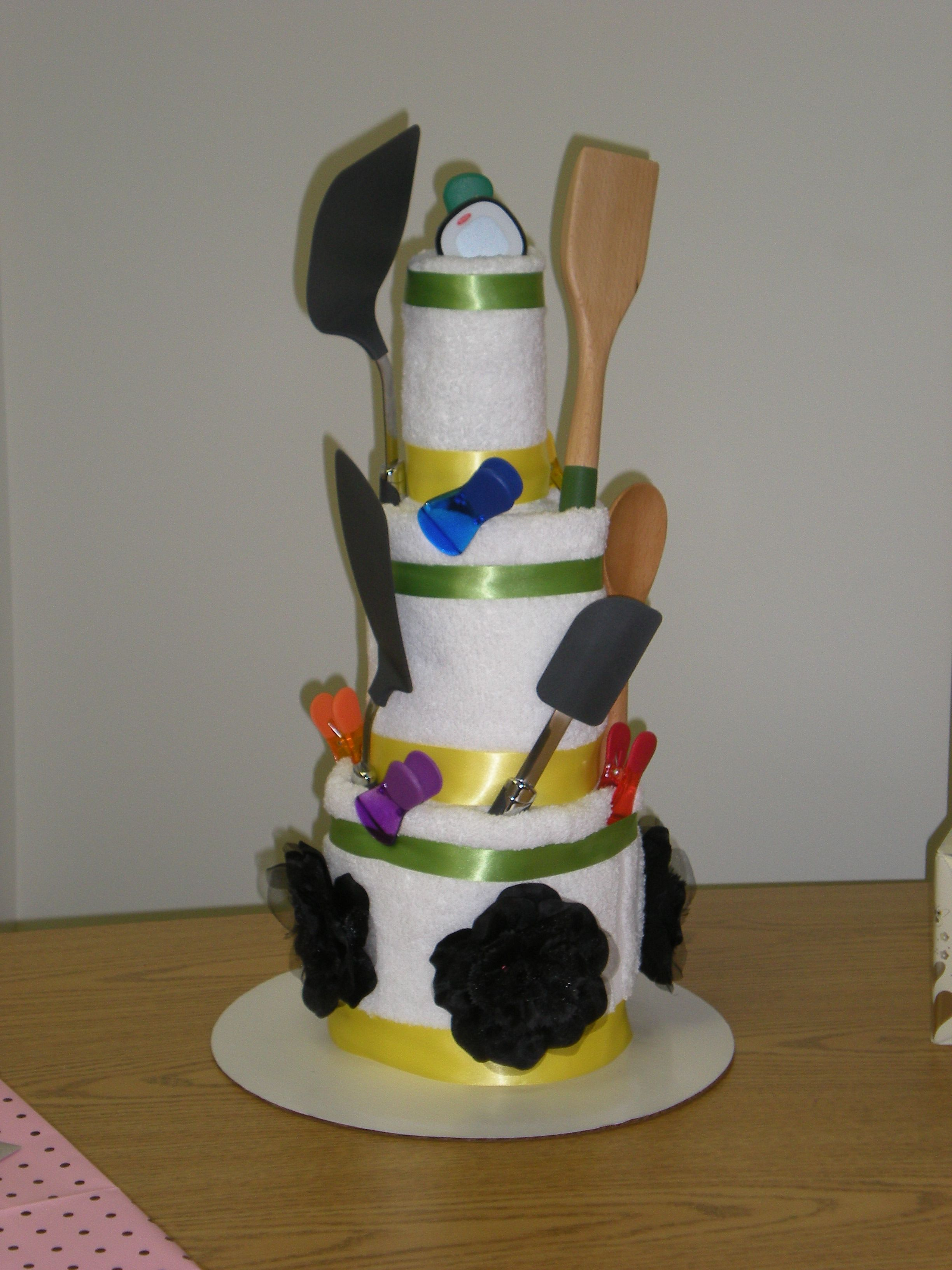Towel cake for a bridal shower my
