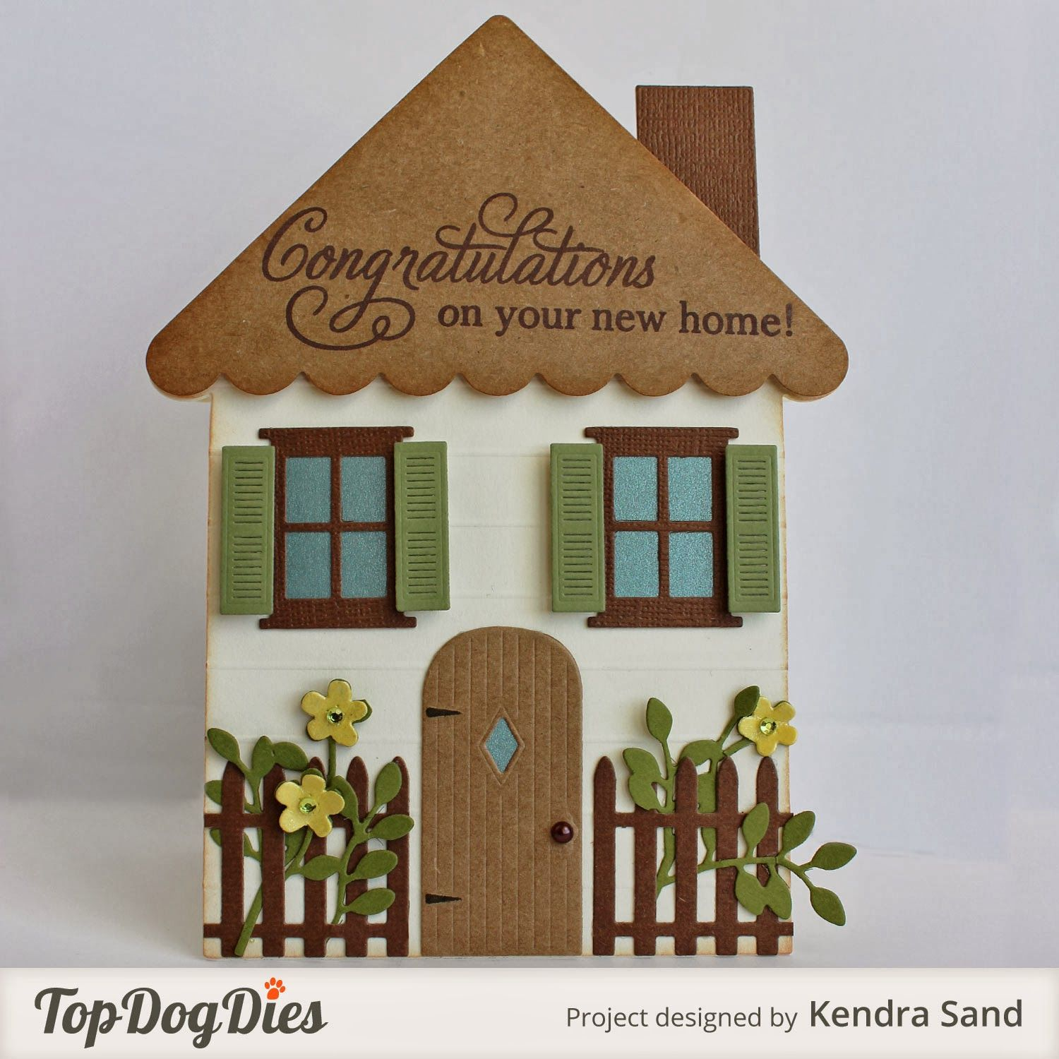 Luv 2 Scrap N' Make Cards: TDD New Home Shaped Card
