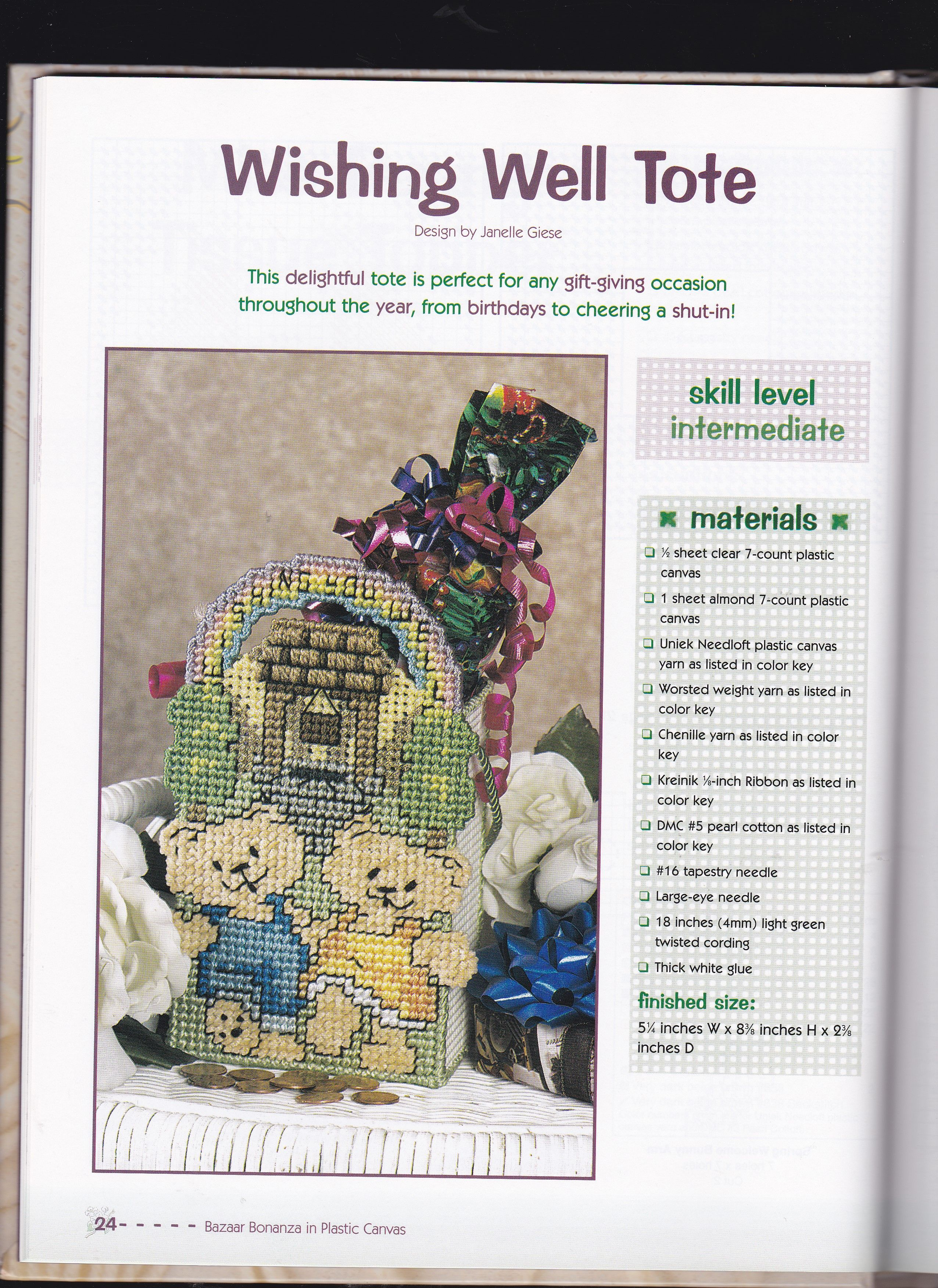 WISHING WELL TOTE by JANELLE GIESE 1/2