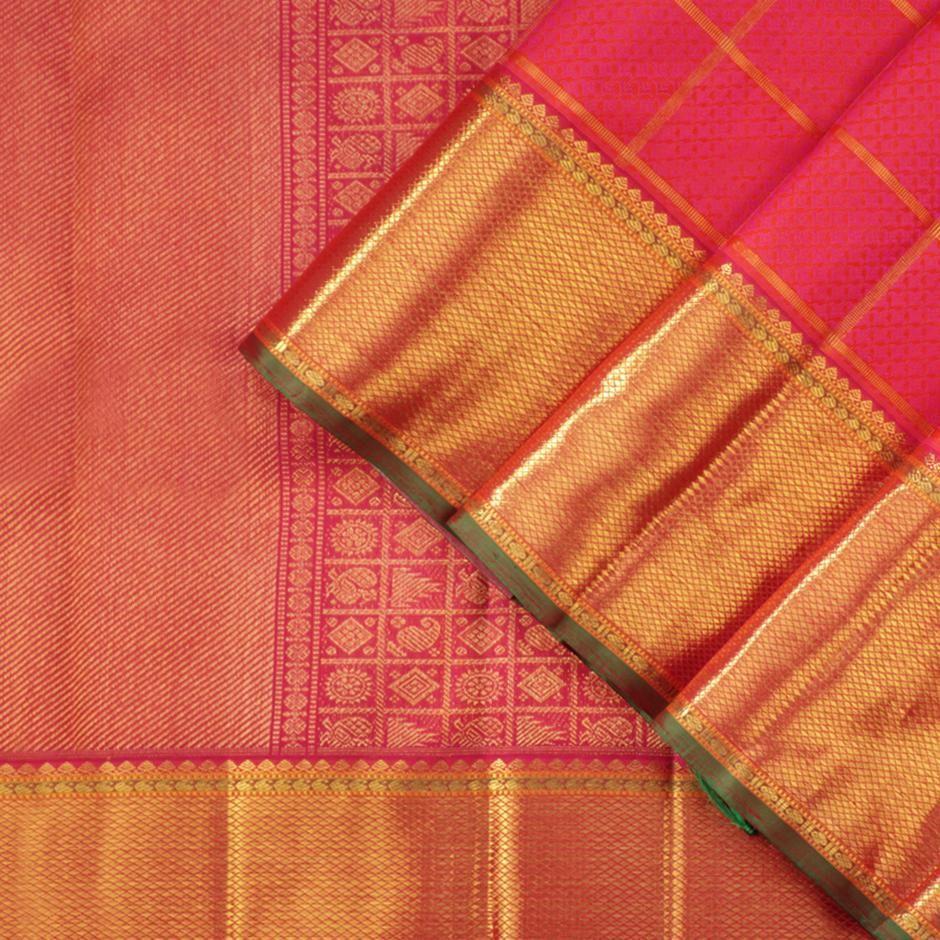 Saree blouse design cutting and stitching kanakavalli kanjivaram silk sari   cover view  anantha