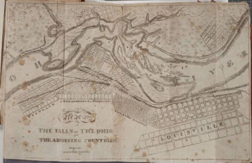 Falls Of The Ohio Map.Falls Of The Ohio And The Adjoining Countries Engraved For