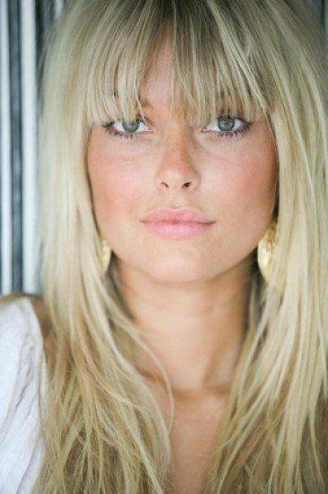 Caroline receveur People Frange cheveux, Cheveux