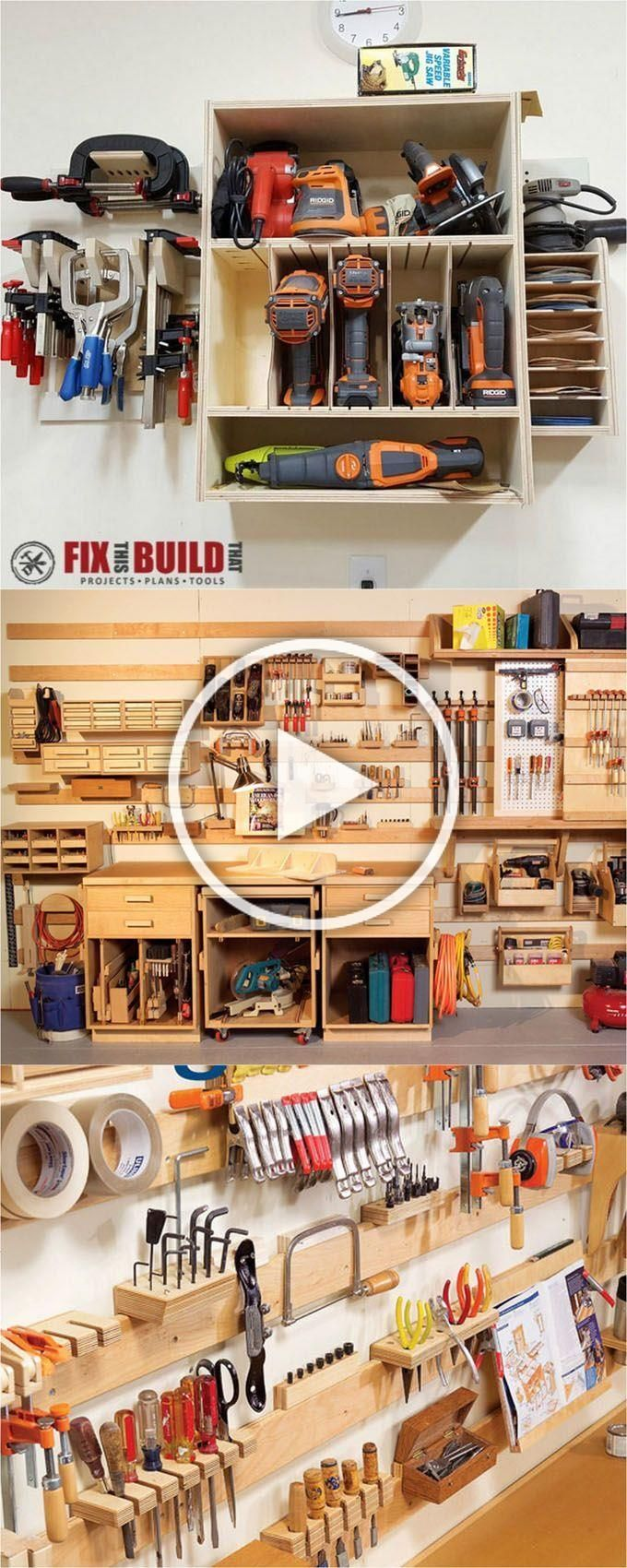 21 great ways to completely organize your workshop or craft room how to best utilize pegboards shelving closet and wall spaces and much more  A Piece Of Rainbow